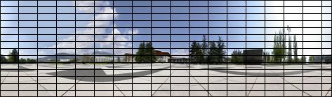 Panoramique avec grille
