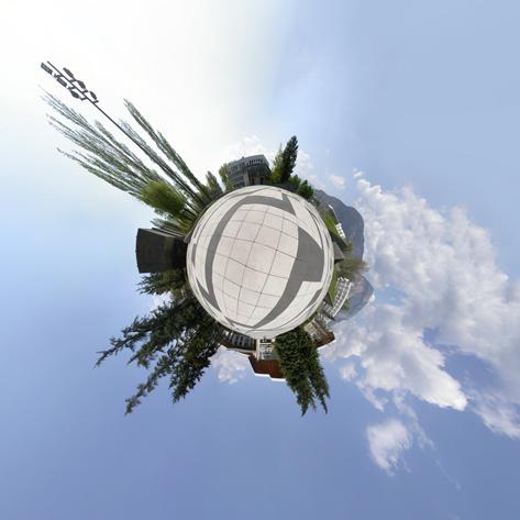 Panoramique Stéréographique de la Bibliothèque Universitaire de Grenoble