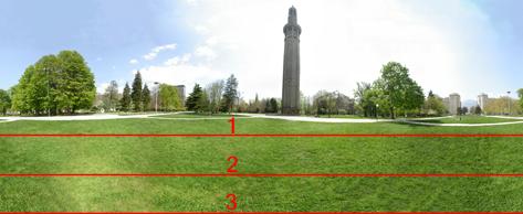 Les 3 niveaux de tronquage du panoramique